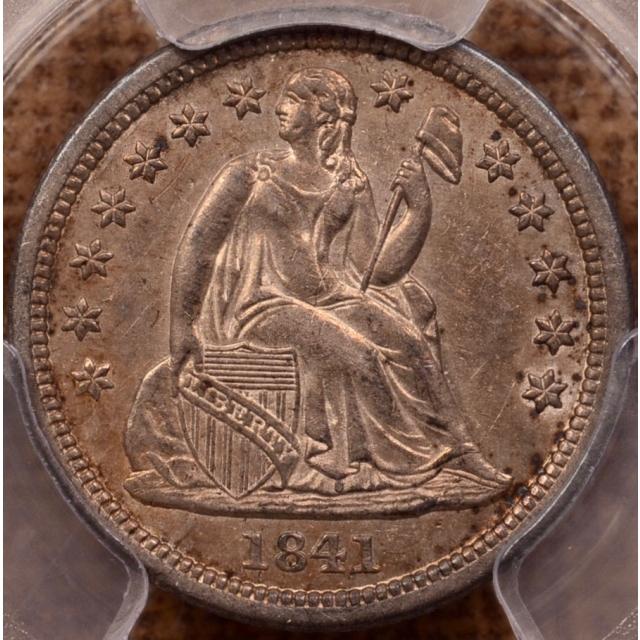 1841 Liberty Seated Dime PCGS AU55