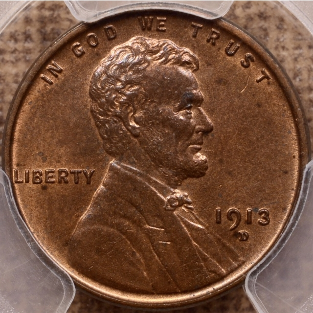 1913-D Lincoln Cent PCGS MS63 RB
