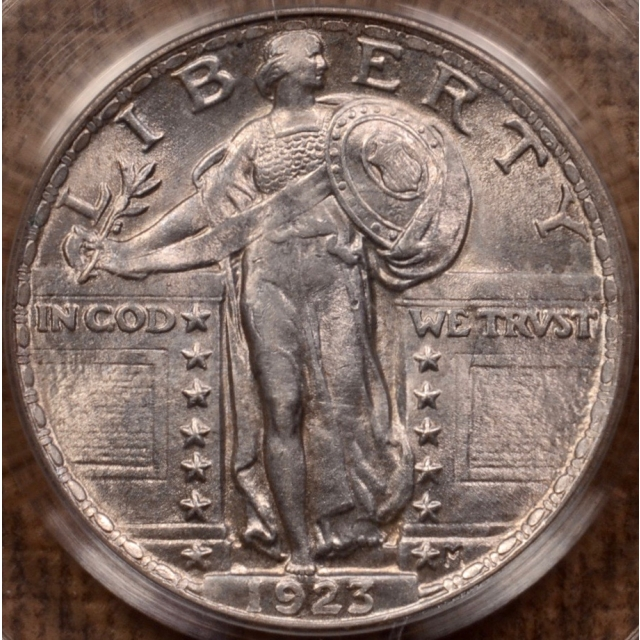 1923 Standing Liberty Quarter PCGS MS63 OGH