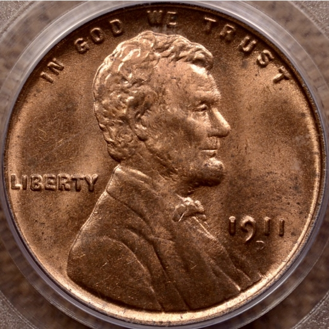 1911-D Lincoln Cent PCGS MS64 RD