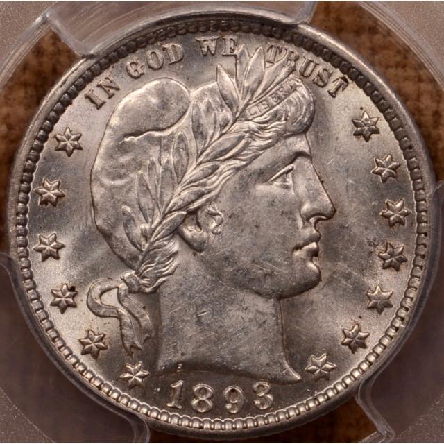 1893-O Barber Quarter PCGS AU58