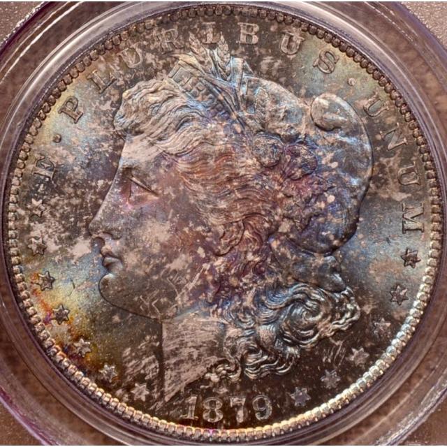 1879-S Morgan Dollar PCGS MS66 (CAC), Monster toning!