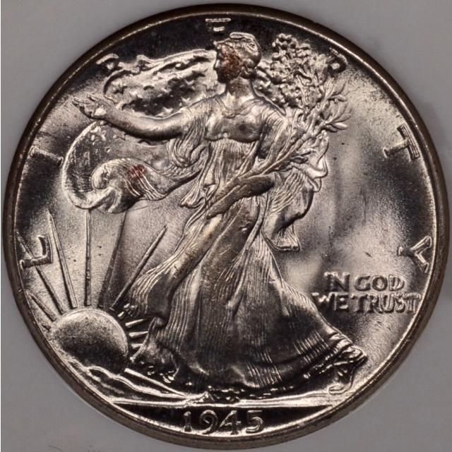 1945 Walking Liberty Half Dollar NGC MS65 Fatty holder