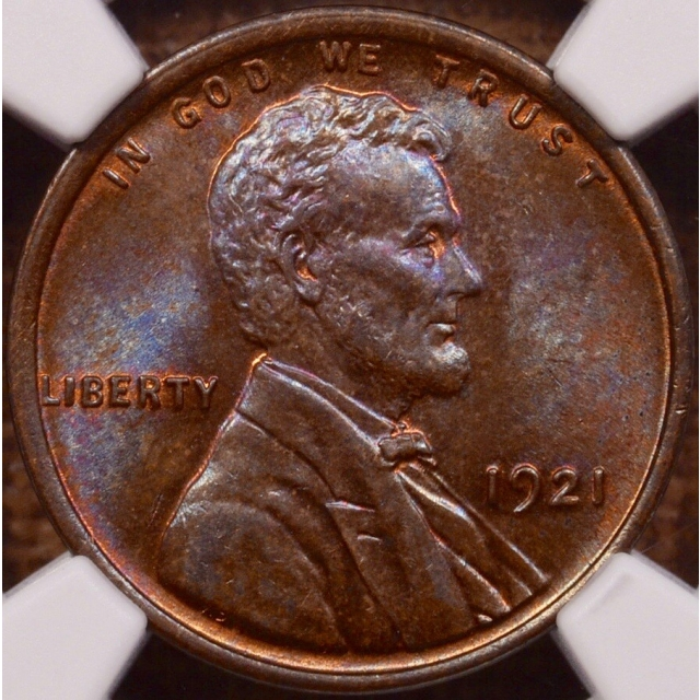 1921 Lincoln Cent NGC MS64 BN...Magenta sort of BN!