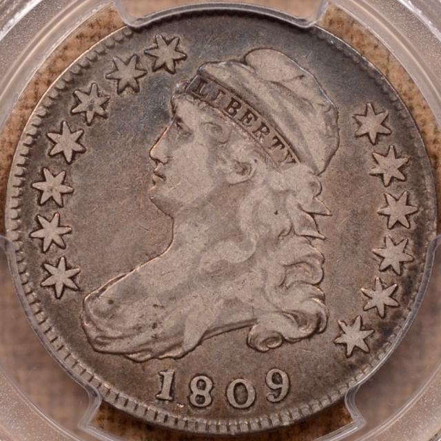 1809 O.112 R5- Capped Bust Half Dollar PCGS F12