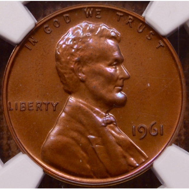 1961 Lincoln Cent NGC PR67 RB, breathtaking color
