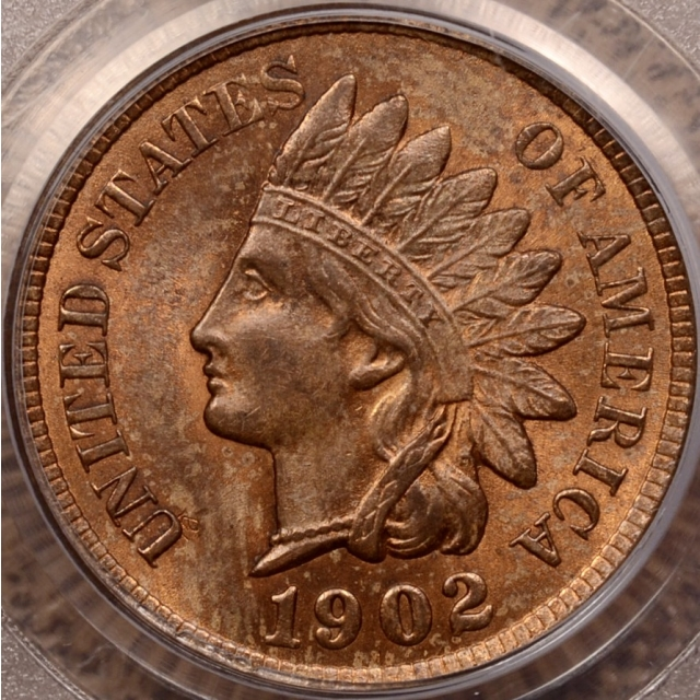 1902 Indian Cent PCGS MS64 RB OGH