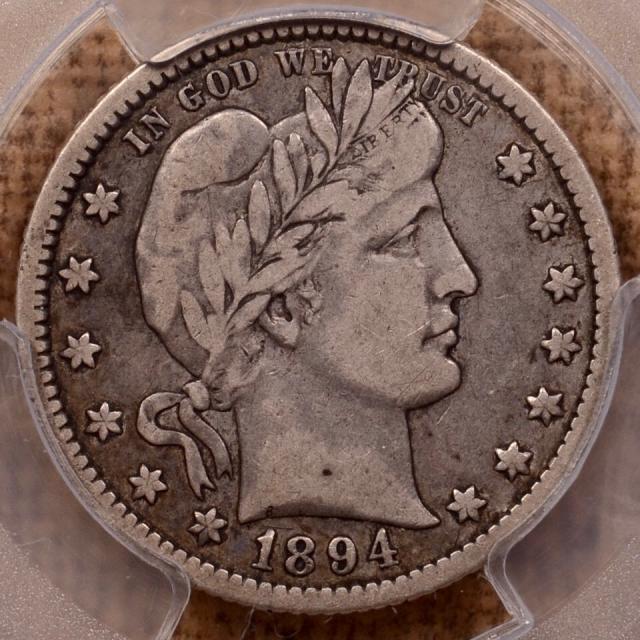 1894-O Barber Quarter PCGS VF20