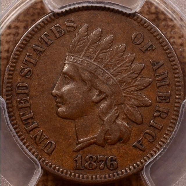 1876 Indian Cent PCGS XF45