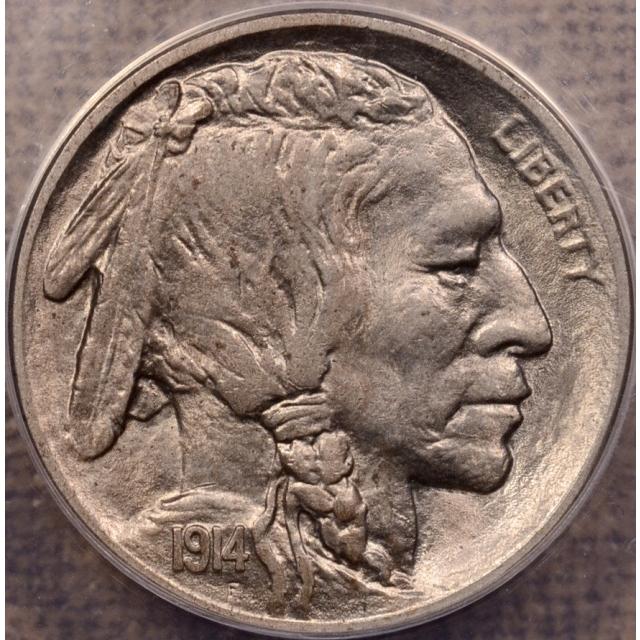 1914-D Buffalo Nickel ANACS AU58