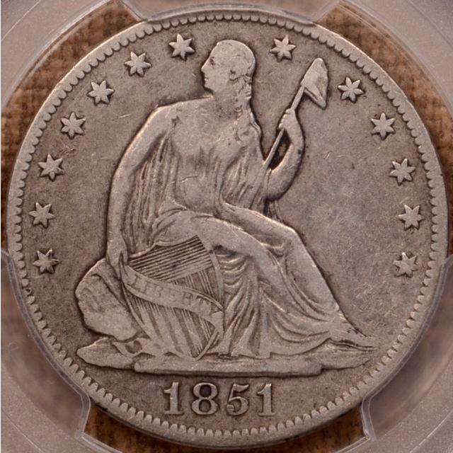 1851-O WB-5 Liberty Seated Half Dollar PCGS VF20