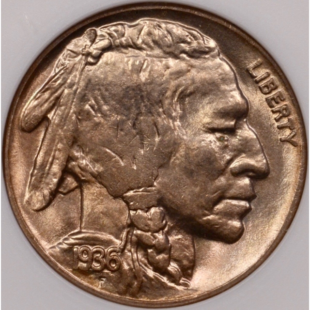 1936-D Buffalo Nickel old ANACS MS64