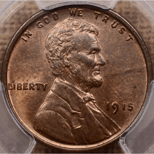 1915 Lincoln Cent PCGS MS64 RB