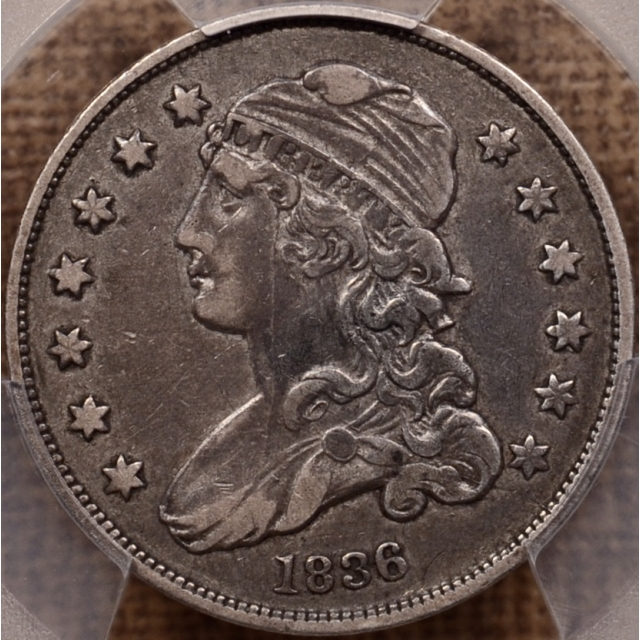 1836 B.2 Capped Bust Quarter PCGS VF35