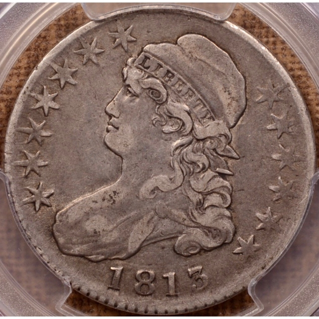 1813 O.101a 50C/UNI Capped Bust Half Dollar PCGS VF25 CAC