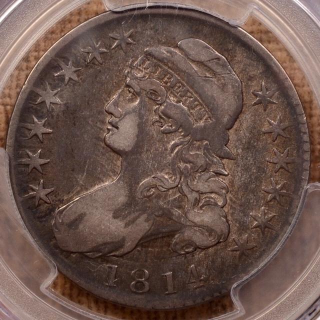 1814 O.106a R4+ Capped Bust Half Dollar PCGS VF20
