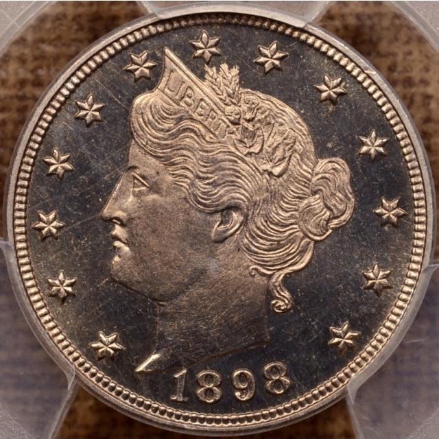 1898 Liberty Nickel PCGS PR65 CAM CAC