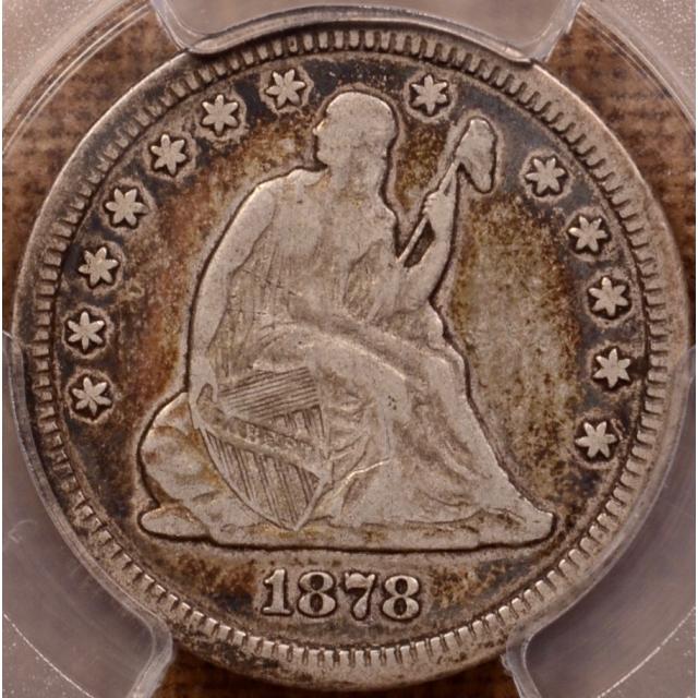 1878-CC Liberty Seated Quarter PCGS F15