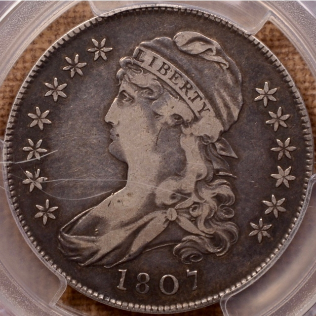 1807 O.113 Small Stars Capped Bust Half Dollar PCGS VF25 (CAC)