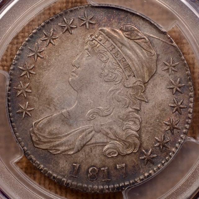 1817 O.106 Capped Bust Half Dollar PCGS AU55