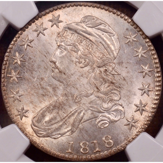 1818 O.112' R6? Capped Bust Half Dollar NGC MS63