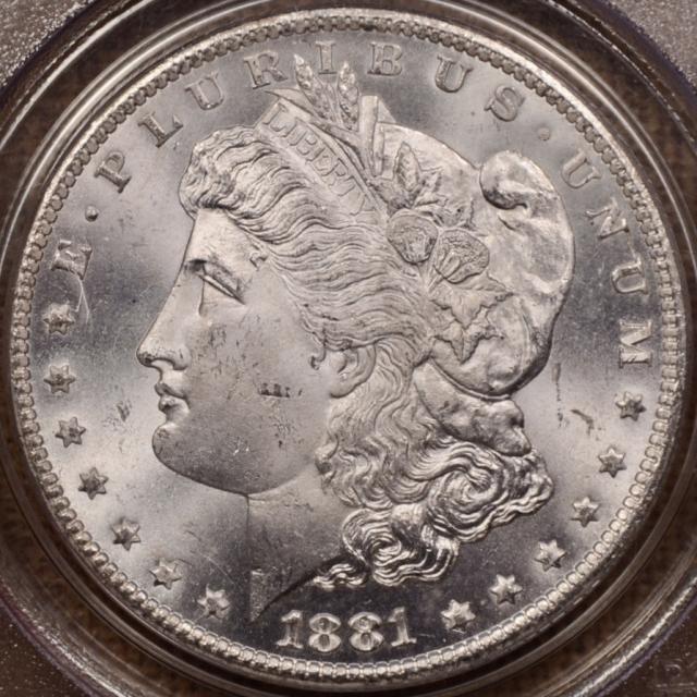 1881-CC Morgan Dollar PCGS MS64 OGH CAC