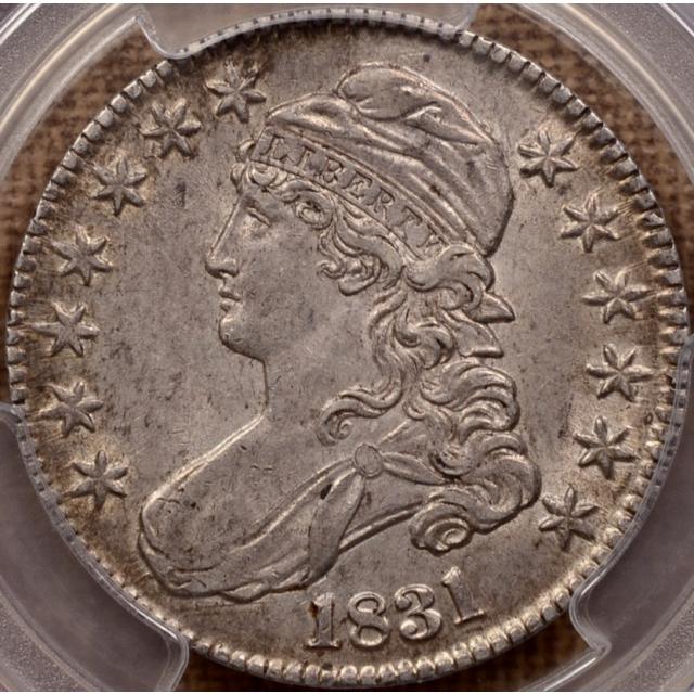 1831 O.104 Capped Bust Half Dollar PCGS AU55