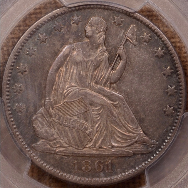 1861-O W-07 LA Issue Liberty Seated Half Dollar PCGS AU53