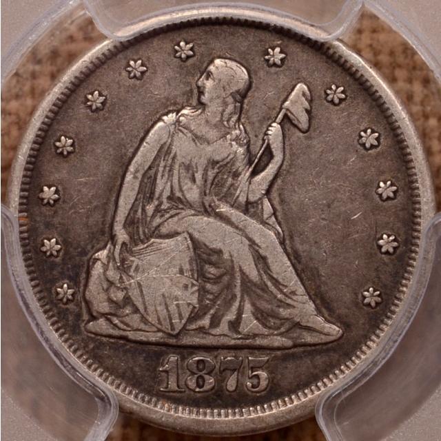 1875-CC BF-2 Twenty Cent PCGS VF20