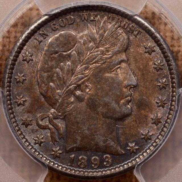 1893-O Barber Quarter PCGS AU55