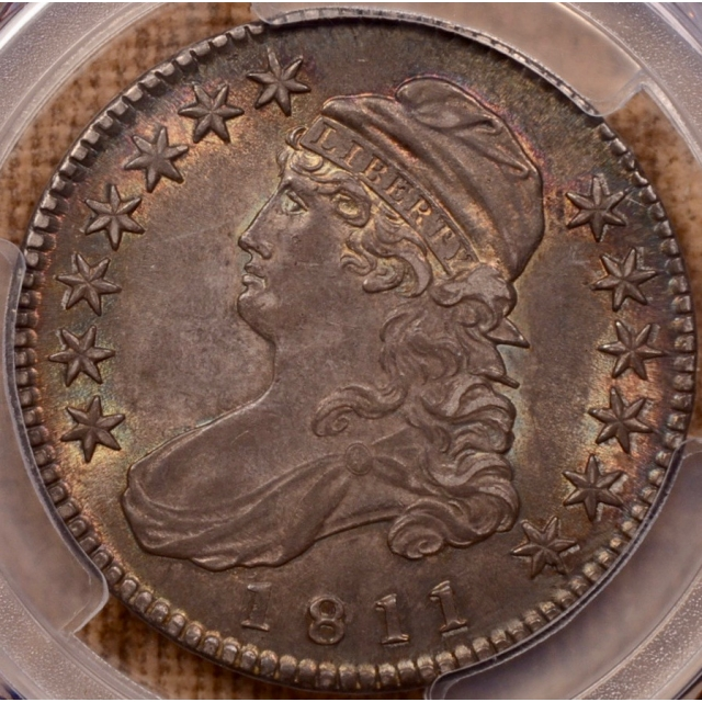 1811 O.109 Small 8 Capped Bust Half Dollar PCGS MS62+, ex. Davignon
