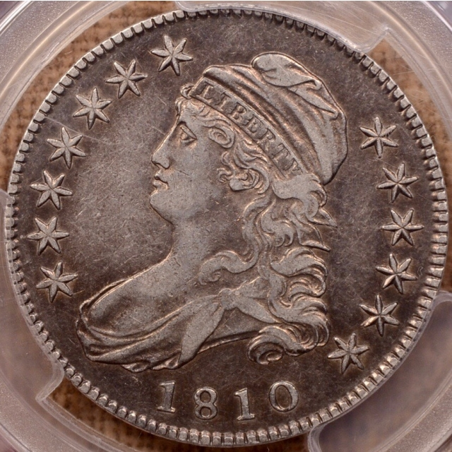 1810 O.102' Capped Bust Half Dollar PCGS VF30 CAC, a rare, True Prime die state