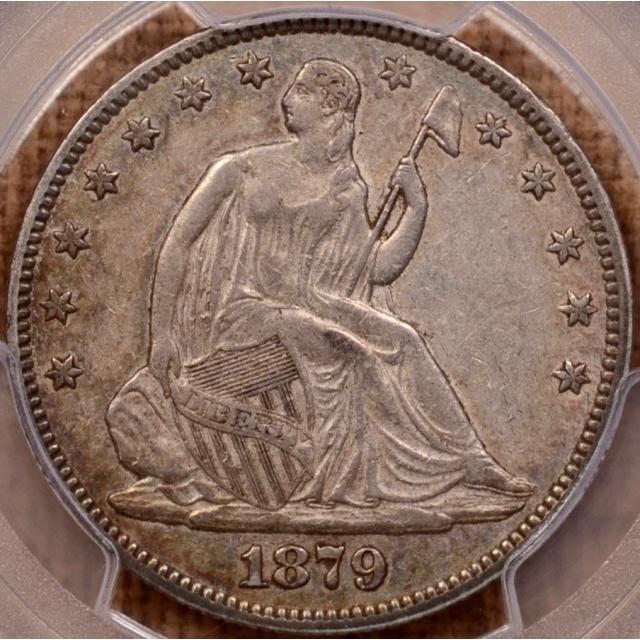 1879 Liberty Seated Half Dollar PCGS XF45 (CAC)