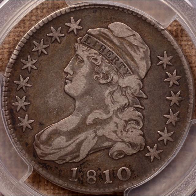 1810 O.108 Capped Bust Half Dollar PCGS VF25 (CAC)