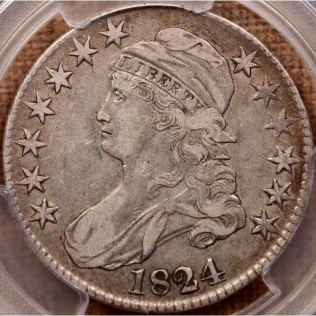 1824 O.107 Capped Bust Half Dollar PCGS VF35