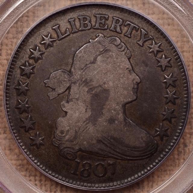 1807 O.109a Draped Bust Half Dollar PCGS F15