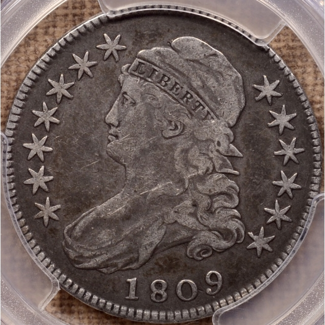 1809 O.104 R5- Capped Bust Half Dollar PCGS VF20