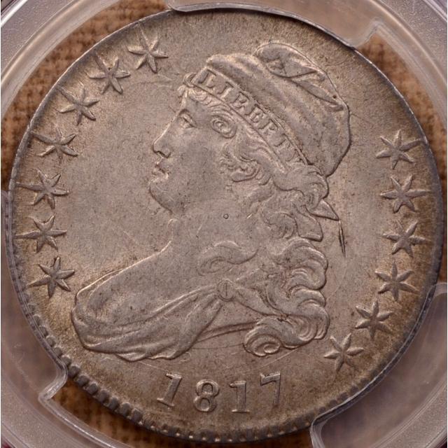 1817 O.111a Capped Bust Half Dollar PCGS AU55