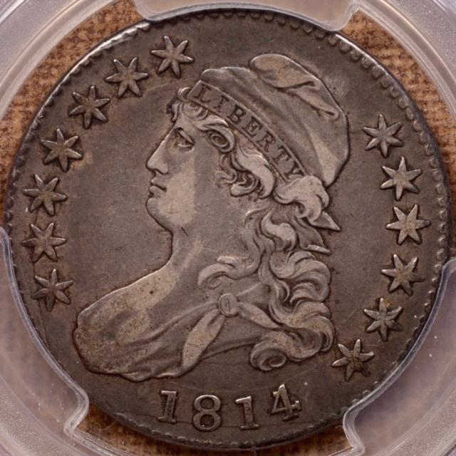 1814/3 O.101a Capped Bust Half Dollar PCGS VF30 (CAC)
