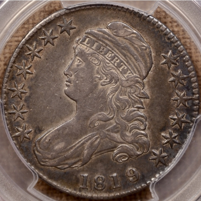 1819/8 O.102 Large 9 Capped Bust Half Dollar PCGS XF40 CAC
