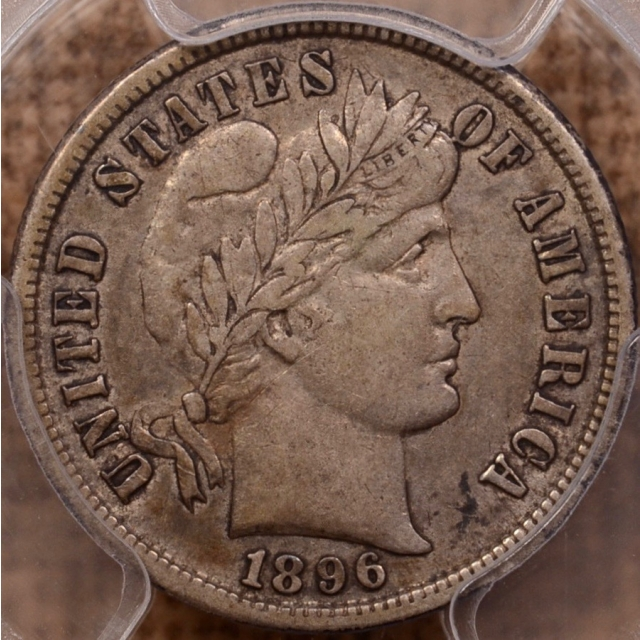 1896-S Barber Dime PCGS XF40 (CAC)