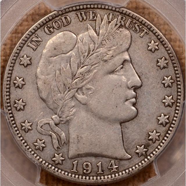 1914-S Barber Half Dollar PCGS XF45 (CAC)