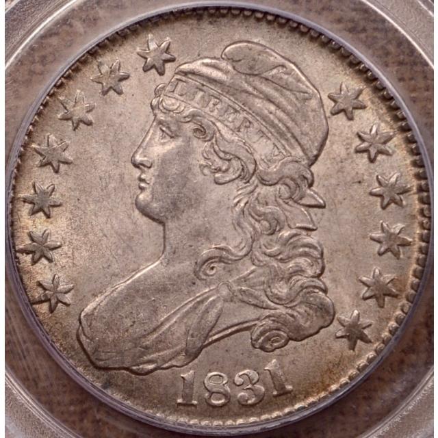 1831 O.109 Capped Bust Half Dollar PCGS AU55 CAC