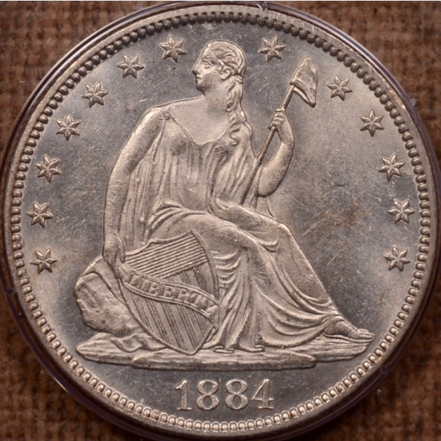 1884 Liberty Seated Half Dollar PCGS MS61 Rattler