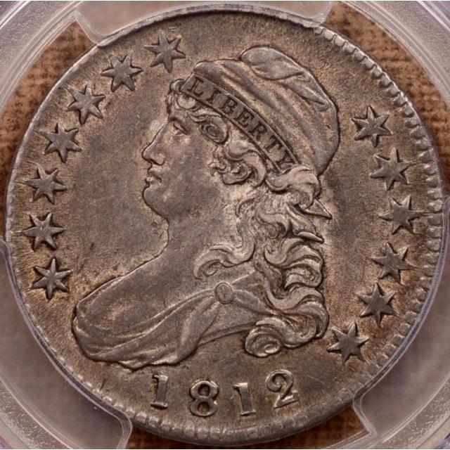1812 O.103 Capped Bust Half Dollar PCGS AU50 (CAC)