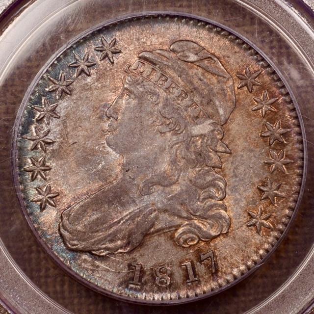 1817 O.113a Capped Bust Half Dollar PCGS AU58 (CAC)