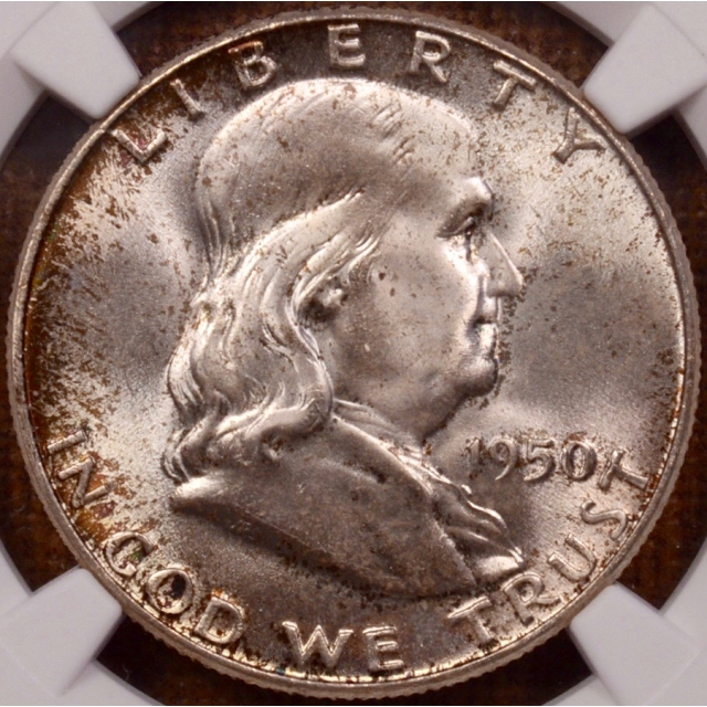 1950 Franklin Half Dollar NGC MS66 FBL CAC