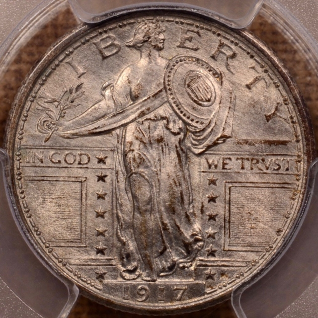 1917 Type 1 Standing Liberty Quarter PCGS MS64FH (CAC)