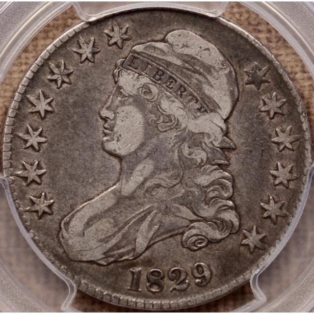 1829 O.105 Capped Bust Half Dollar PCGS VF25