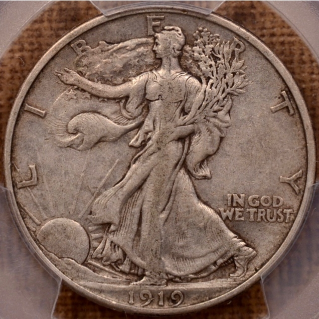 1919 Walking Liberty Half Dollar PCGS VF35 (CAC)